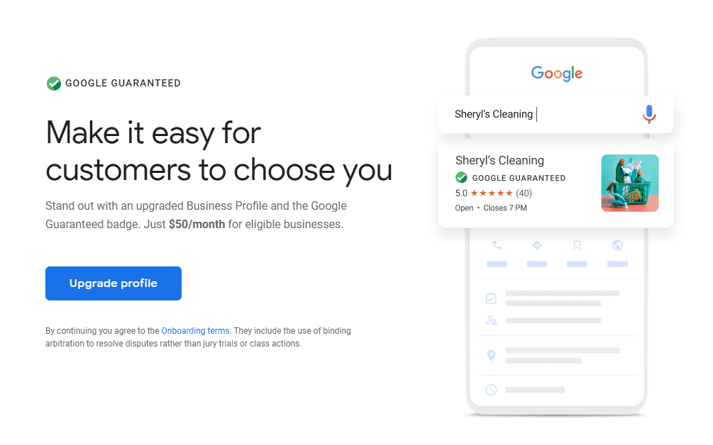 "Featured image for ""Google My Business and Google Guaranteed Badge"""