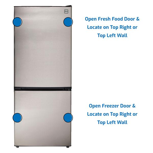 Avanti Refrigerator Freezer on the Bottom