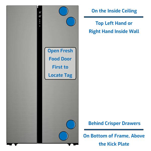 Avanti Refrigerator Side by Side