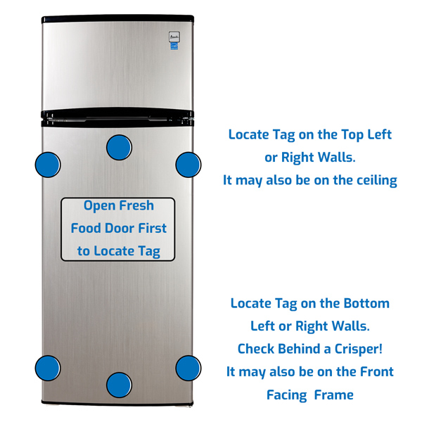 Avanti Refrigerator Freezer on the Top