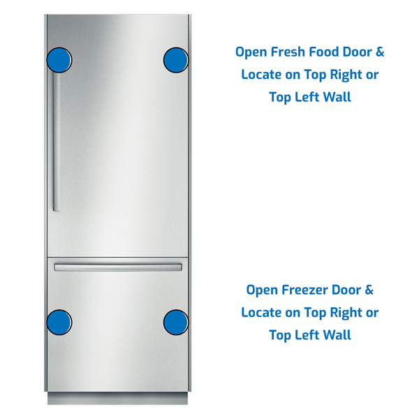 Bosch Refrigerator Freezer on the Bottom