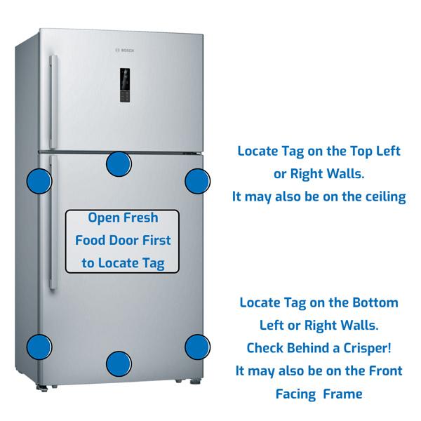 Bosch Refrigerator Freezer on the Top