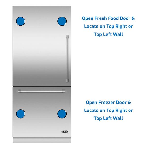 DCS Refrigerator Freezer on the Bottom