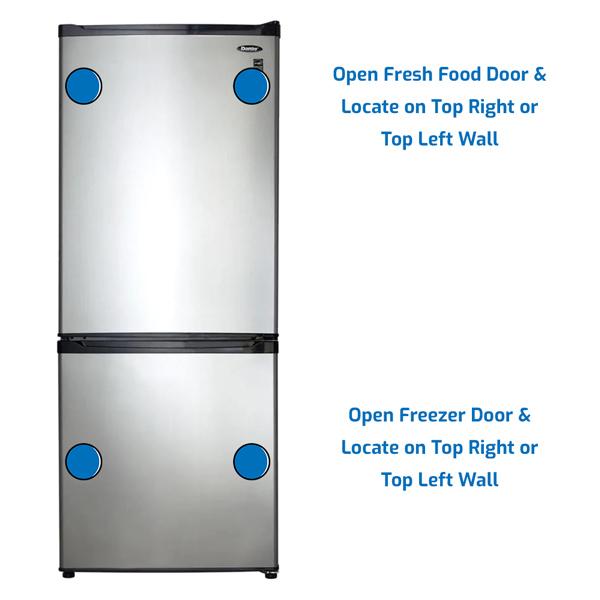 Danby Refrigerator Freezer on the Bottom