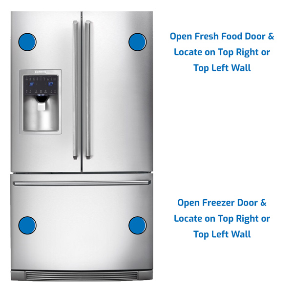 Electrolux Refrigerator Freezer on the Bottom