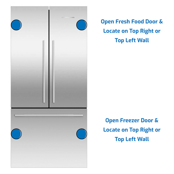 Fisher and Paykel Refrigerator Freezer on the Bottom