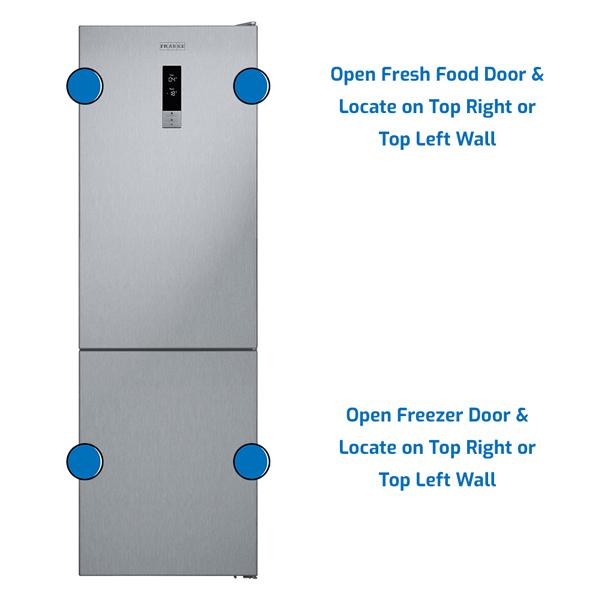 Franke Refrigerator Freezer on the Bottom