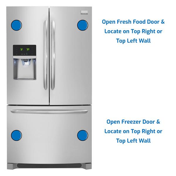 Frigidaire Refrigerator Freezer on the Bottom