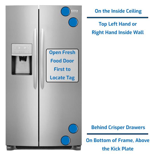 Frigidaire Refrigerator Side by Side