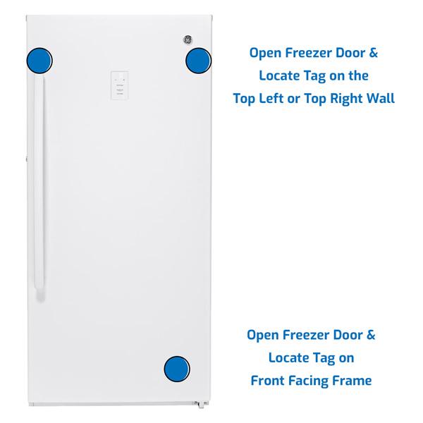 GE General Electric Freezer Upright