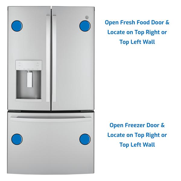 GE General Electric Refrigerator Freezer on the Bottom