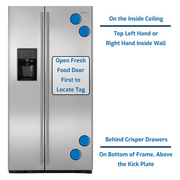 GE Monogram Refrigerator Side by Side