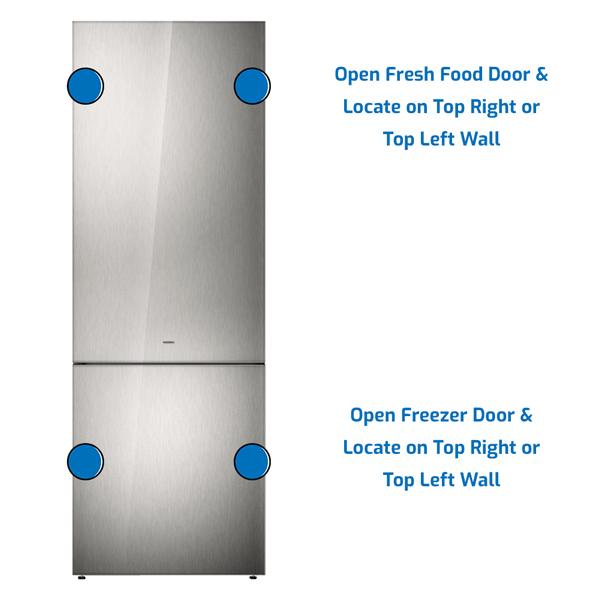Gaggenau Refrigerator Freezer on the Bottom