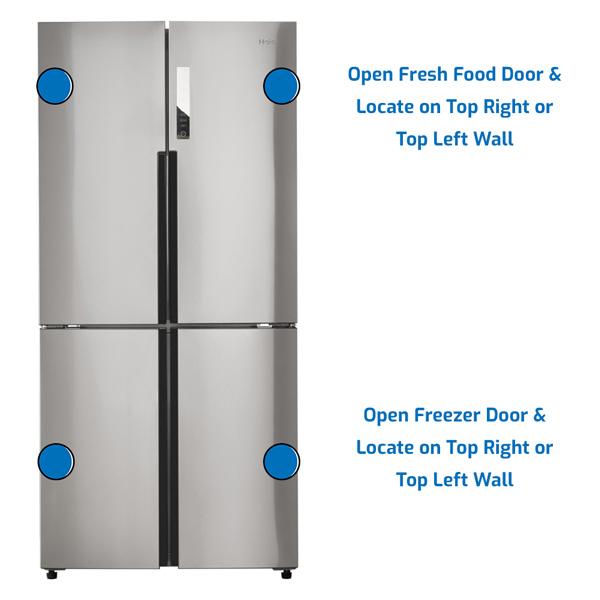 Haier Refrigerator Freezer on the Bottom