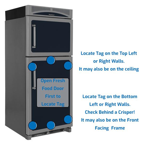 Heartland Refrigerator Freezer on the Top