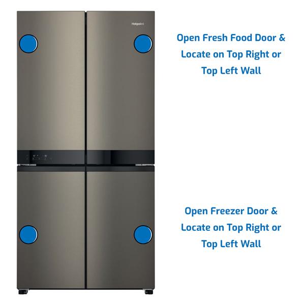 Hotpoint Refrigerator Freezer on the Bottom