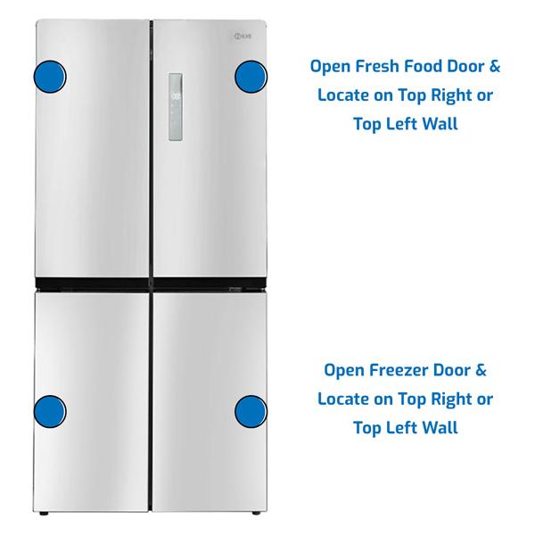 Ilve Refrigerator Freezer at the Bottom