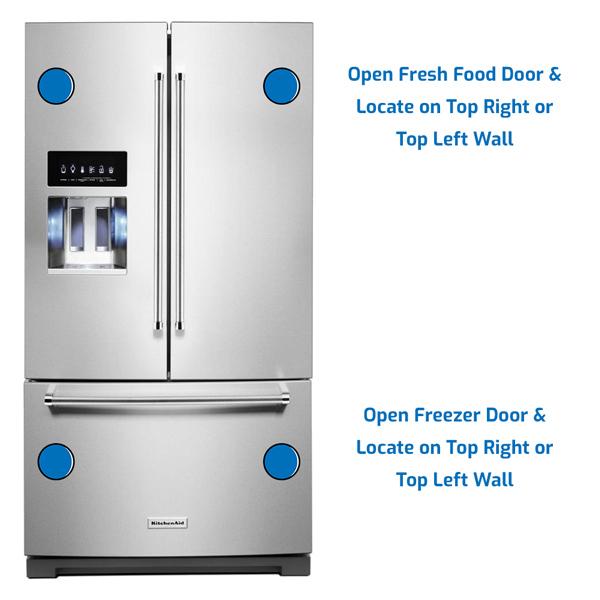 KitchenAid Refrigerator Freezer on the Bottom