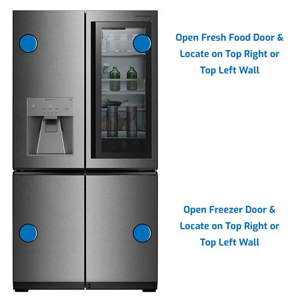 LG Refrigerator Freezer on the Bottom