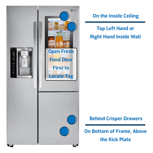 LG Refrigerator Side by Side