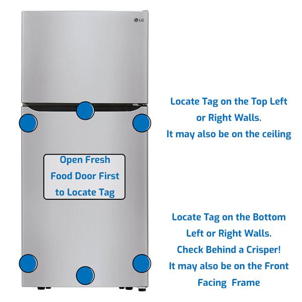LG Refrigerator Freezer on the Top