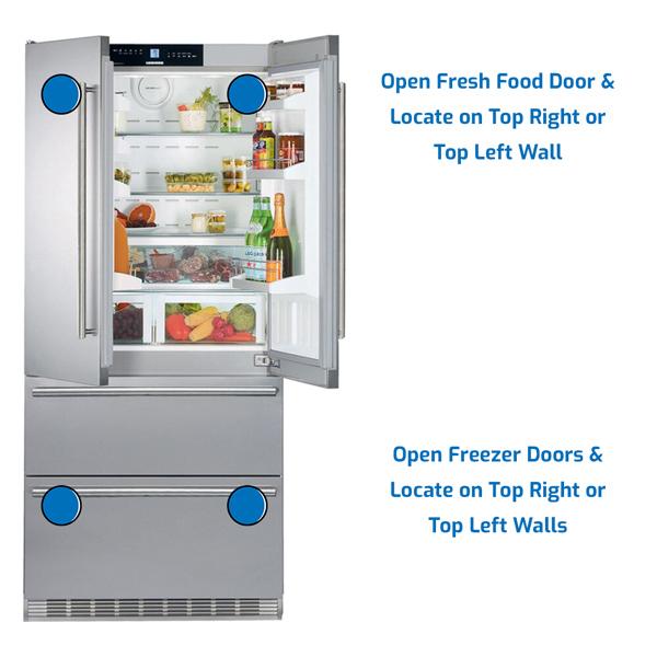 Liebherr Refrigerator Freezer on the Bottom