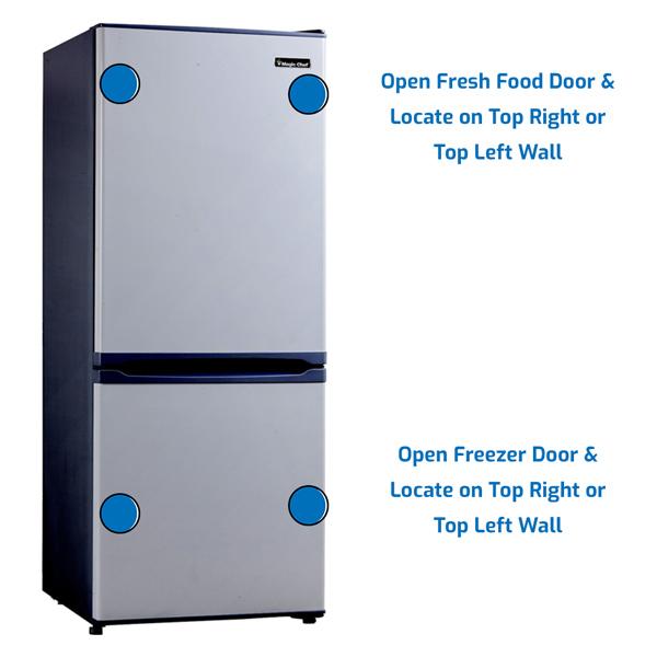 Magic Chef Refrigerator Freezer on the Bottom