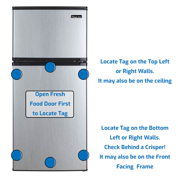 Magic Chef Refrigerator Freezer on the Top