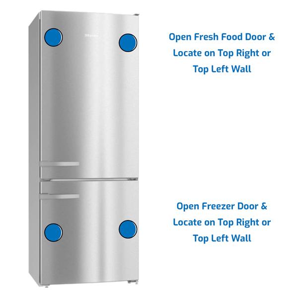 Miele Refrigerator Freezer on the Bottom