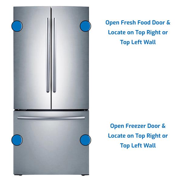 Samsung Refrigerator Freezer on the Bottom