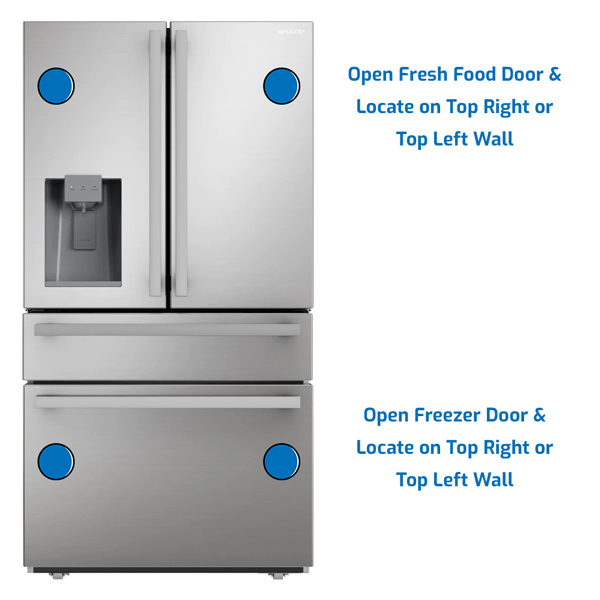 Sharp Refrigerator Freezer on the Bottom