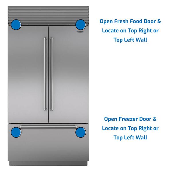 Sub-Zero Refrigerator Freezer on the Bottom