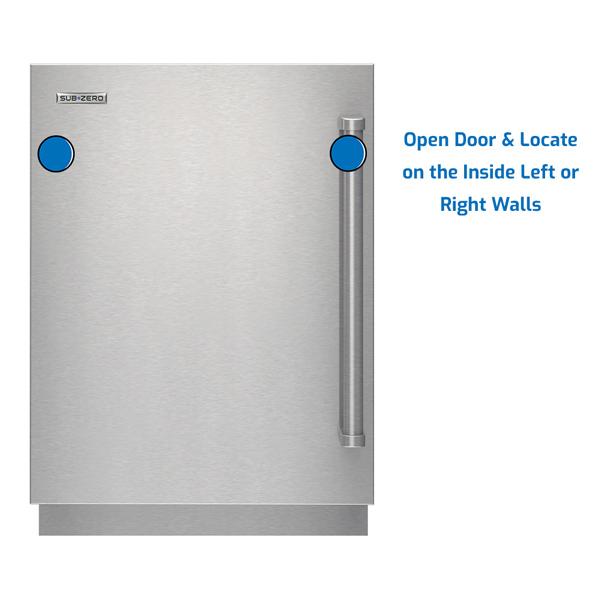 Sub-Zero Refrigerator Under Counter