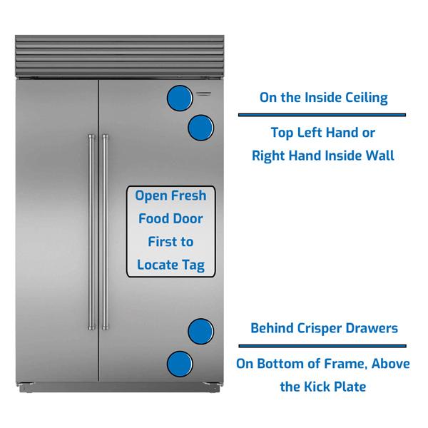 Sub-Zero Refrigerator Side by Side