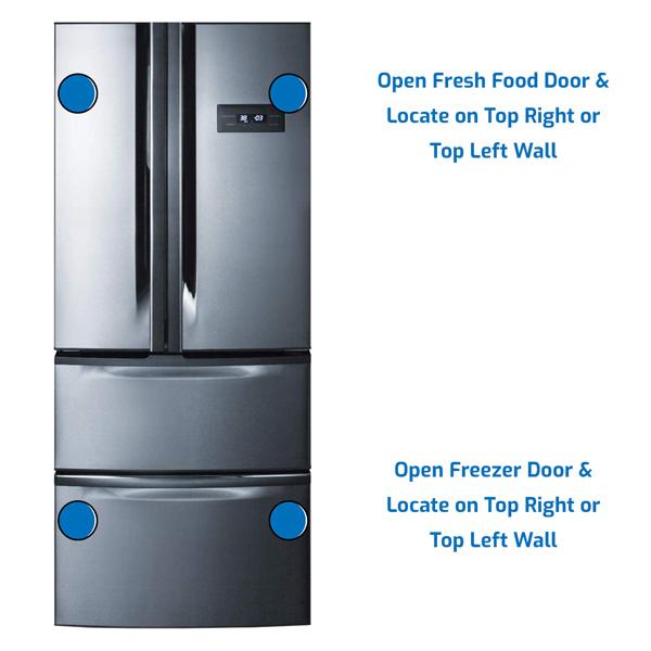 Summit Refrigerator Freezer on the Bottom