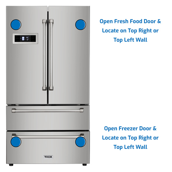 Thor Refrigerator Freezer on the Bottom