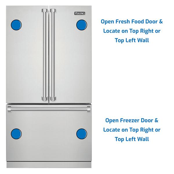 Viking Refrigerator Freezer on the Bottom