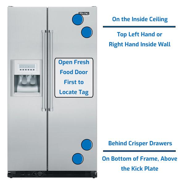 Viking Refrigerator Side by Side