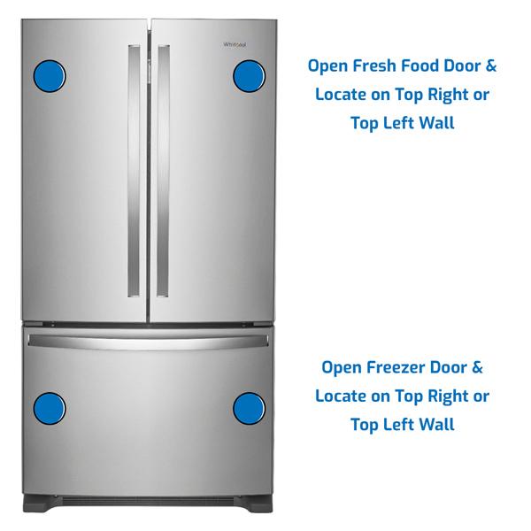 Whirlpool Refrigerator Freezer on the Bottom